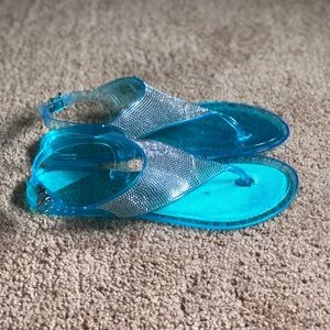 Shoes - Blue Bejeweled Sandals